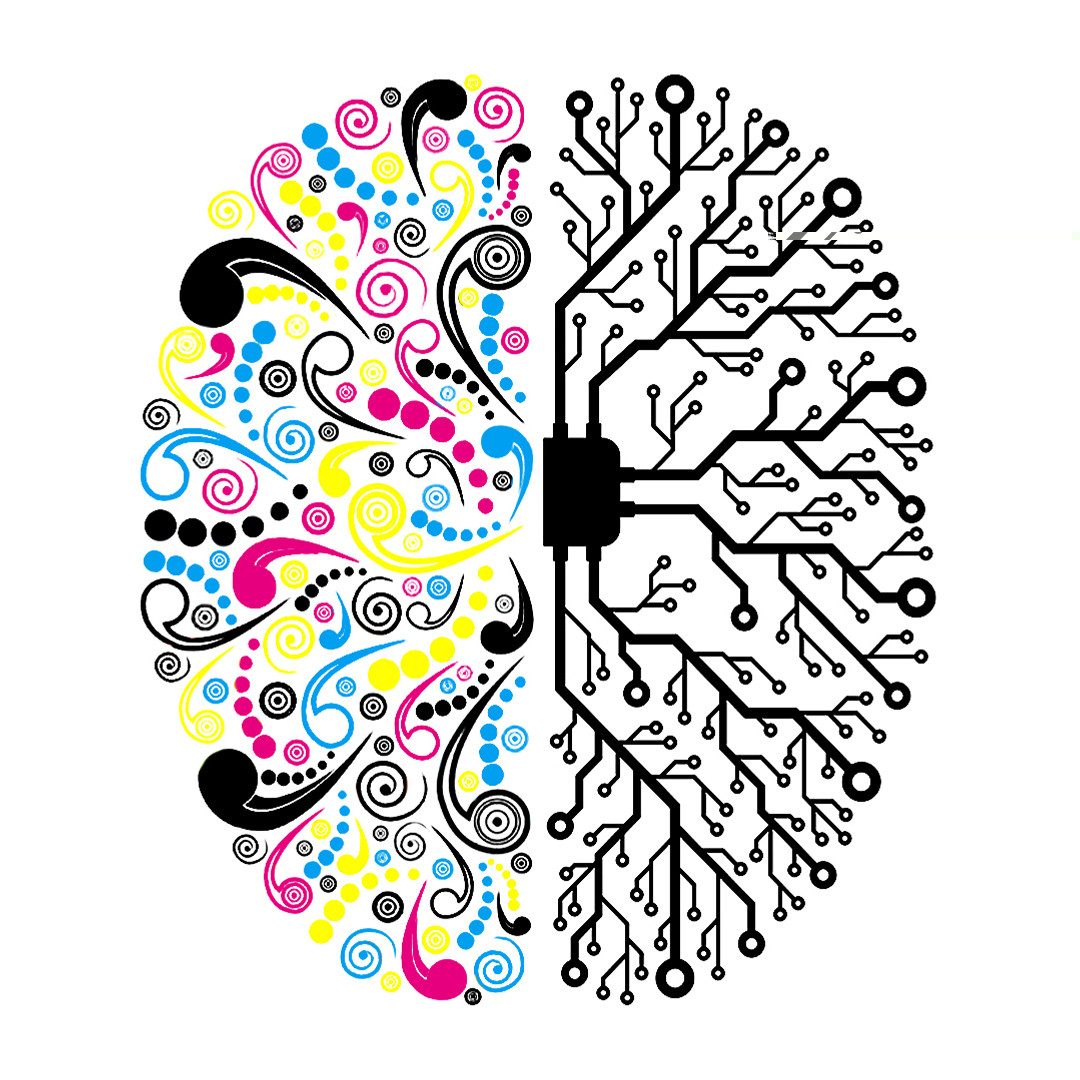 kreative und analytische Gehirnhälfte