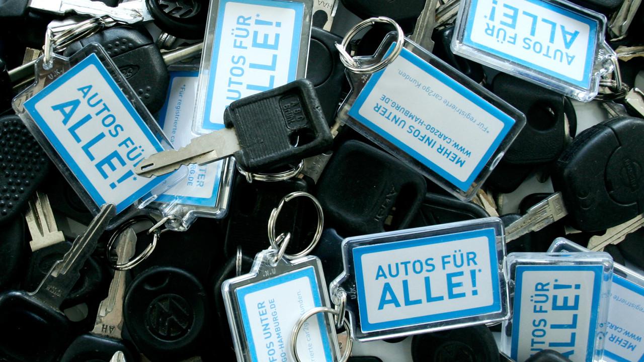 car2go Schluesselanhaenger Autos für alle!