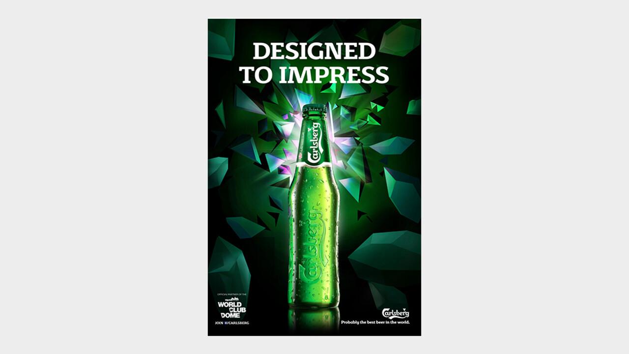 Carlsberg OOH Anzeige Designed to impress