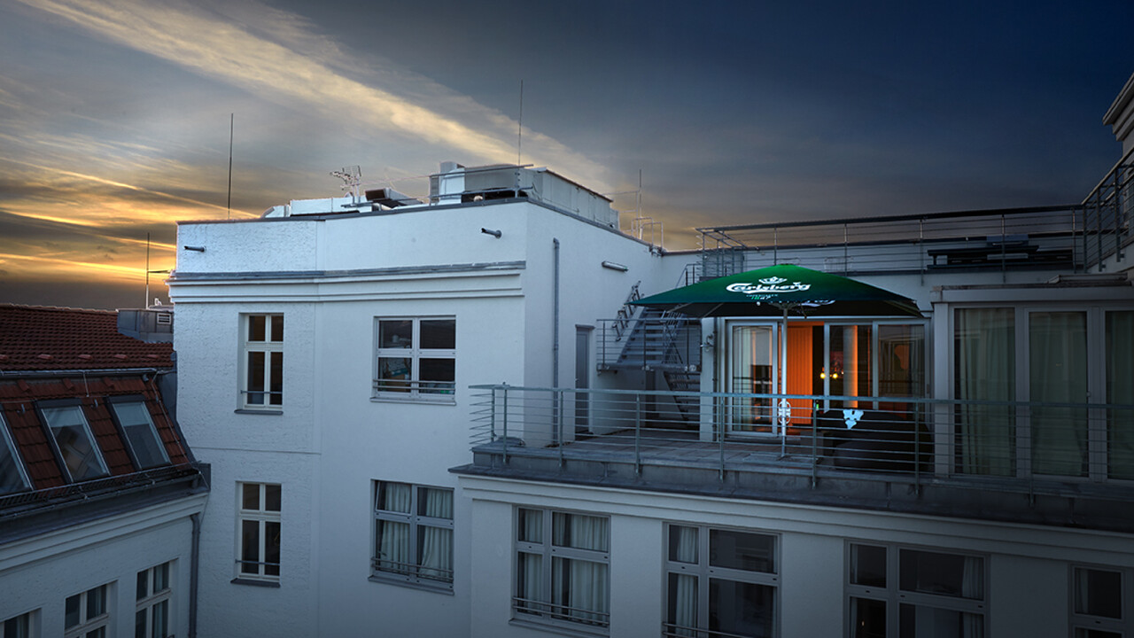 Carlsberg Aktion Nightclub Schirm