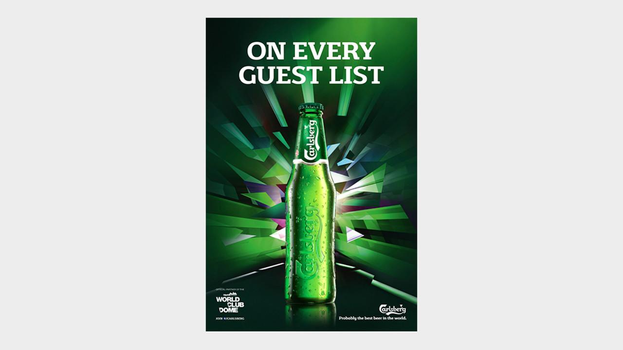 Carlsberg OOH Anzeige On every guest list