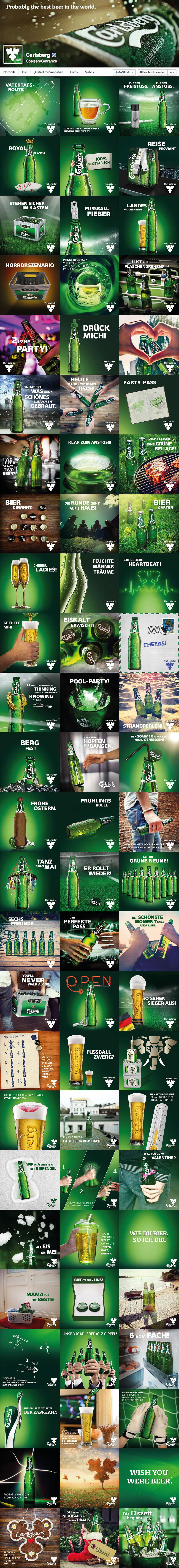Carlsberg Social media facebook Postings