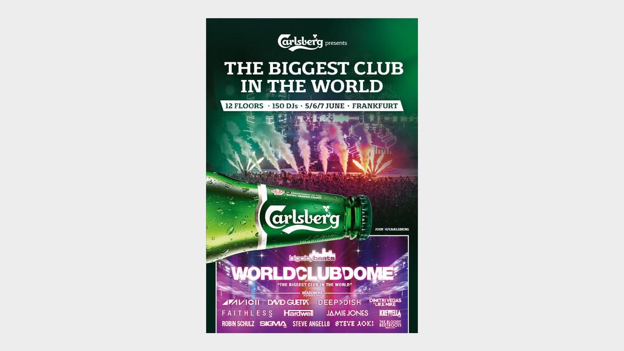 Carlsberg OOH Anzeige The biggest club in the world