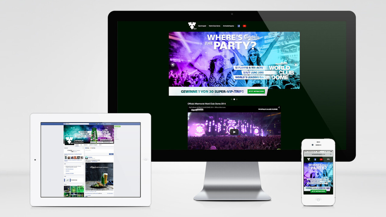 Carlsberg Online facebook, Website und Mobile Where is the party?