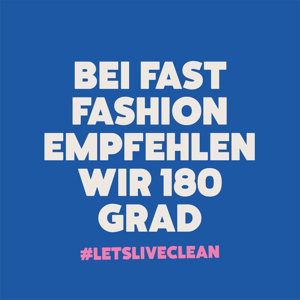 Ecover Social Media Posting Bei Fast Fashion empfehlen wir 180 Grad