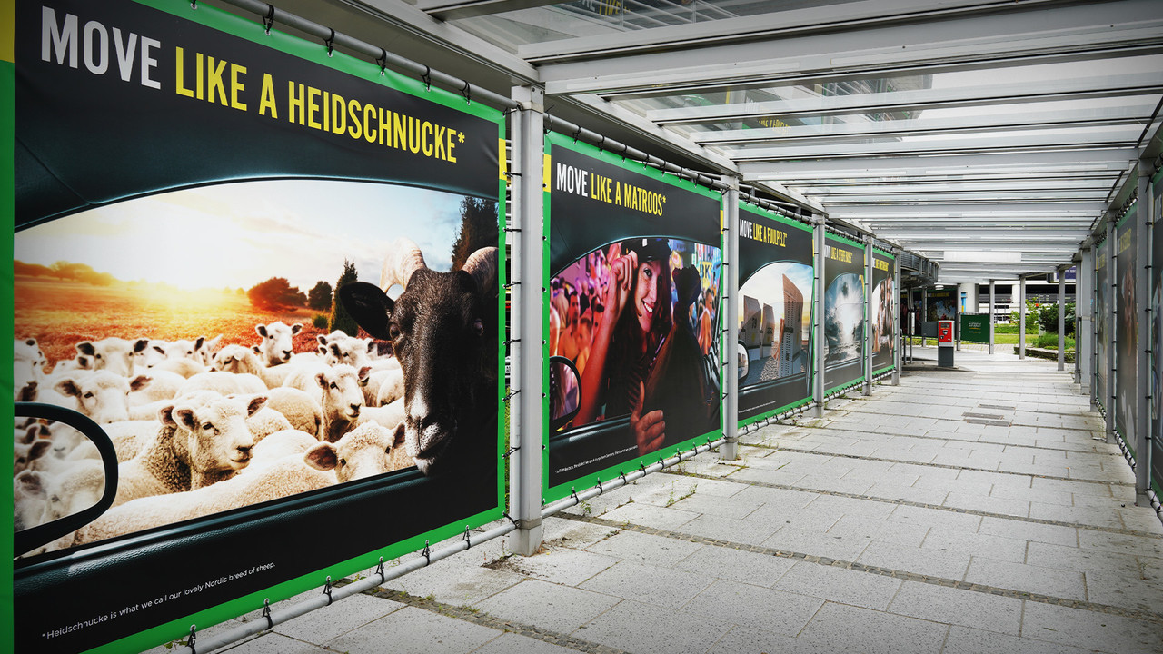 Europcar Hamburg Airport Branding Plakatreihe Tunnel