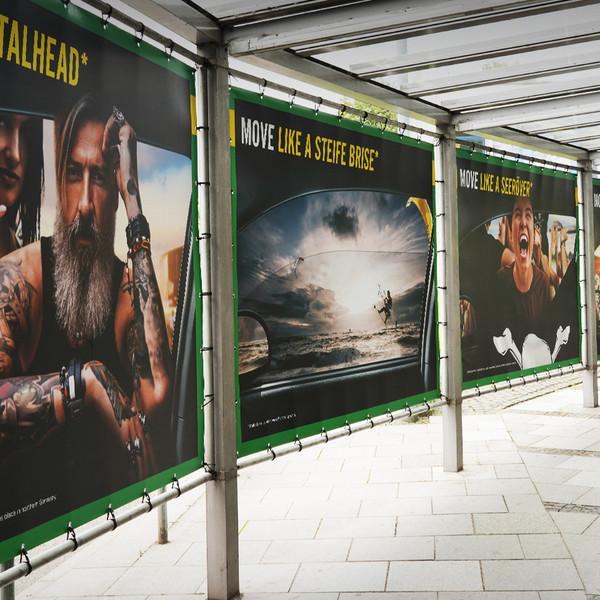 Europcar Hamburg Airport Branding Plakate im Tunnel