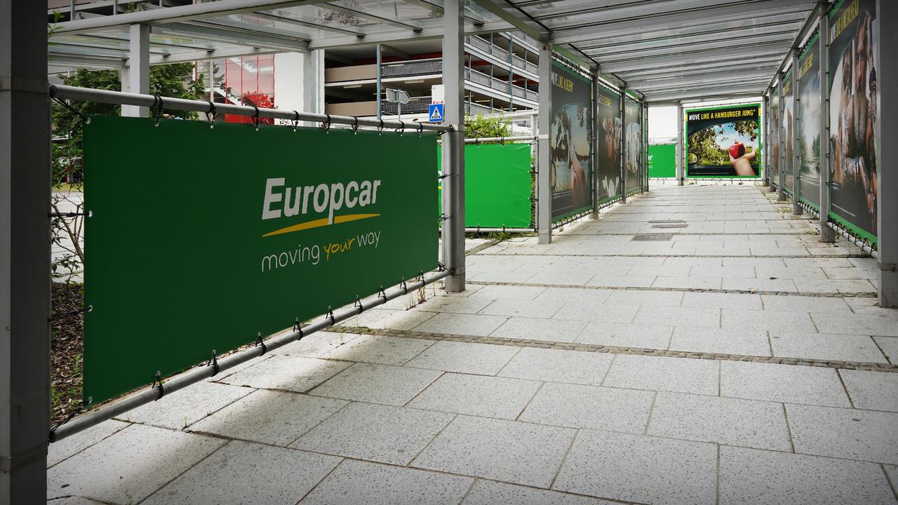 Europcar Hamburg Airport Branding Europcar Logo