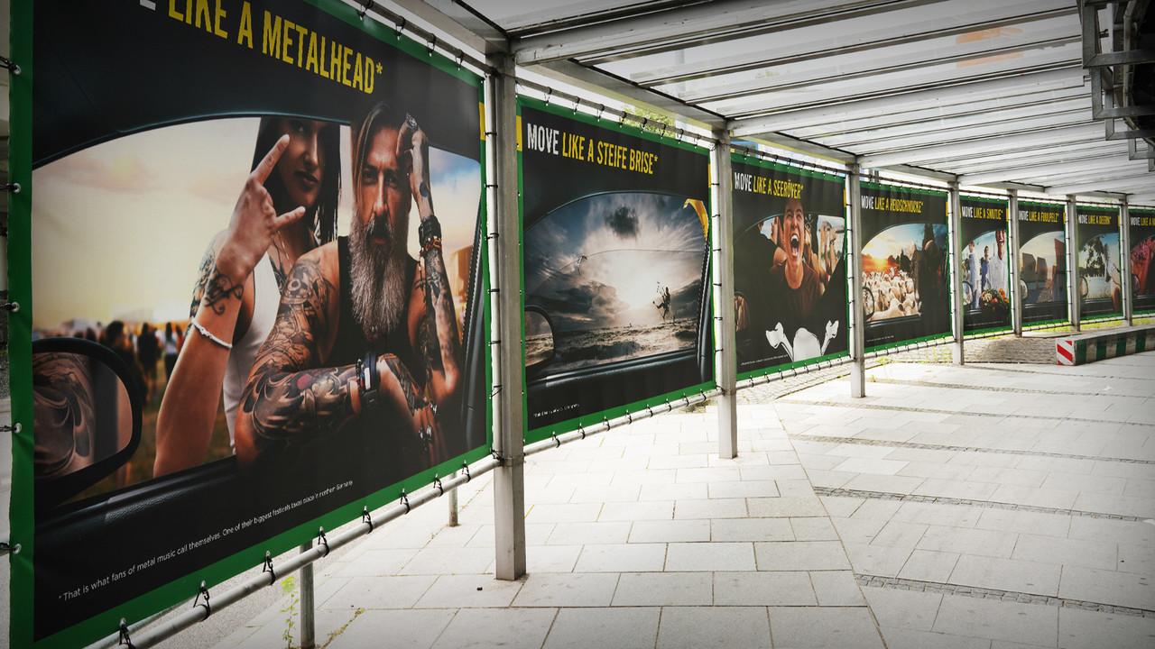 Europcar Hamburg Airport Branding Plakatreihe