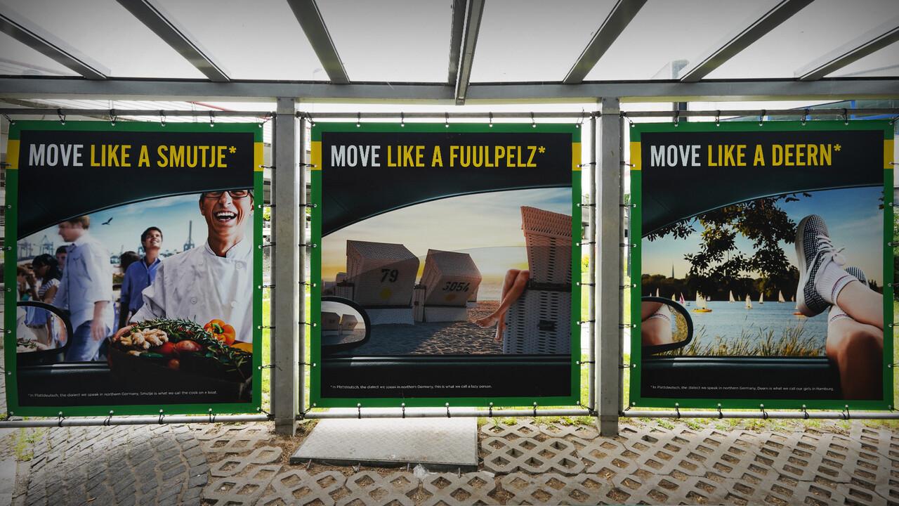 Europcar Hamburg Airport Branding Plakate Triologie Mundart