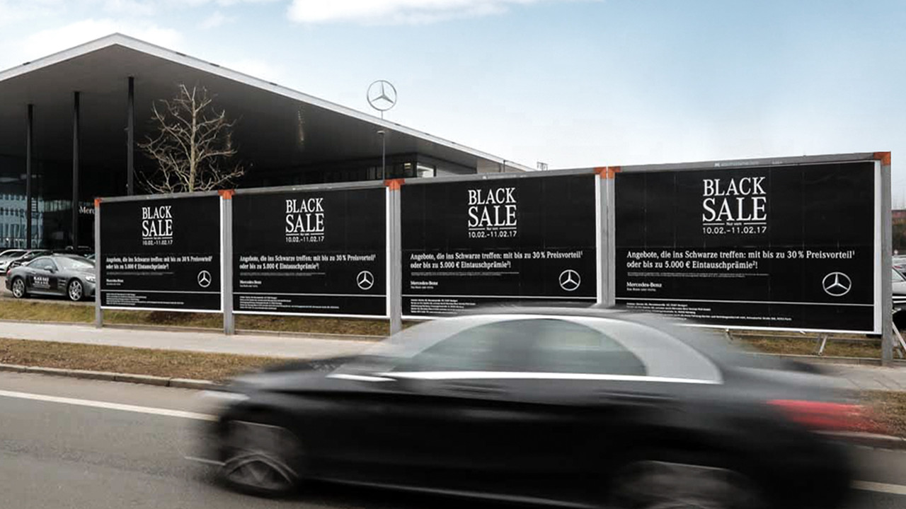 Mercedes Benz Black Sale Plakatreihe OOH