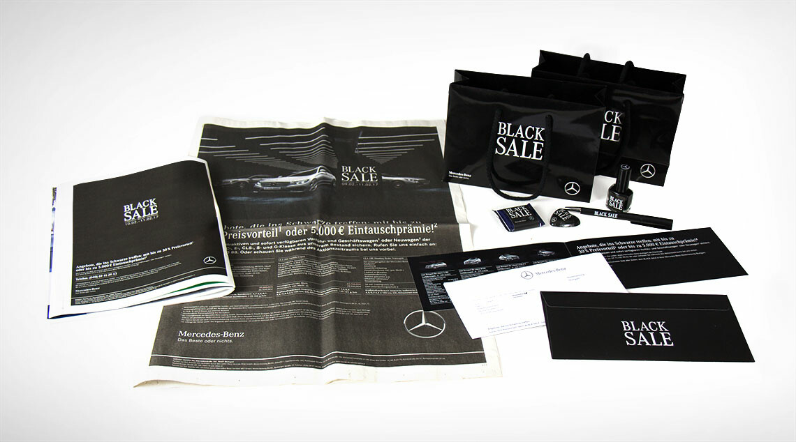 Mercedes Benz Black Sale Print