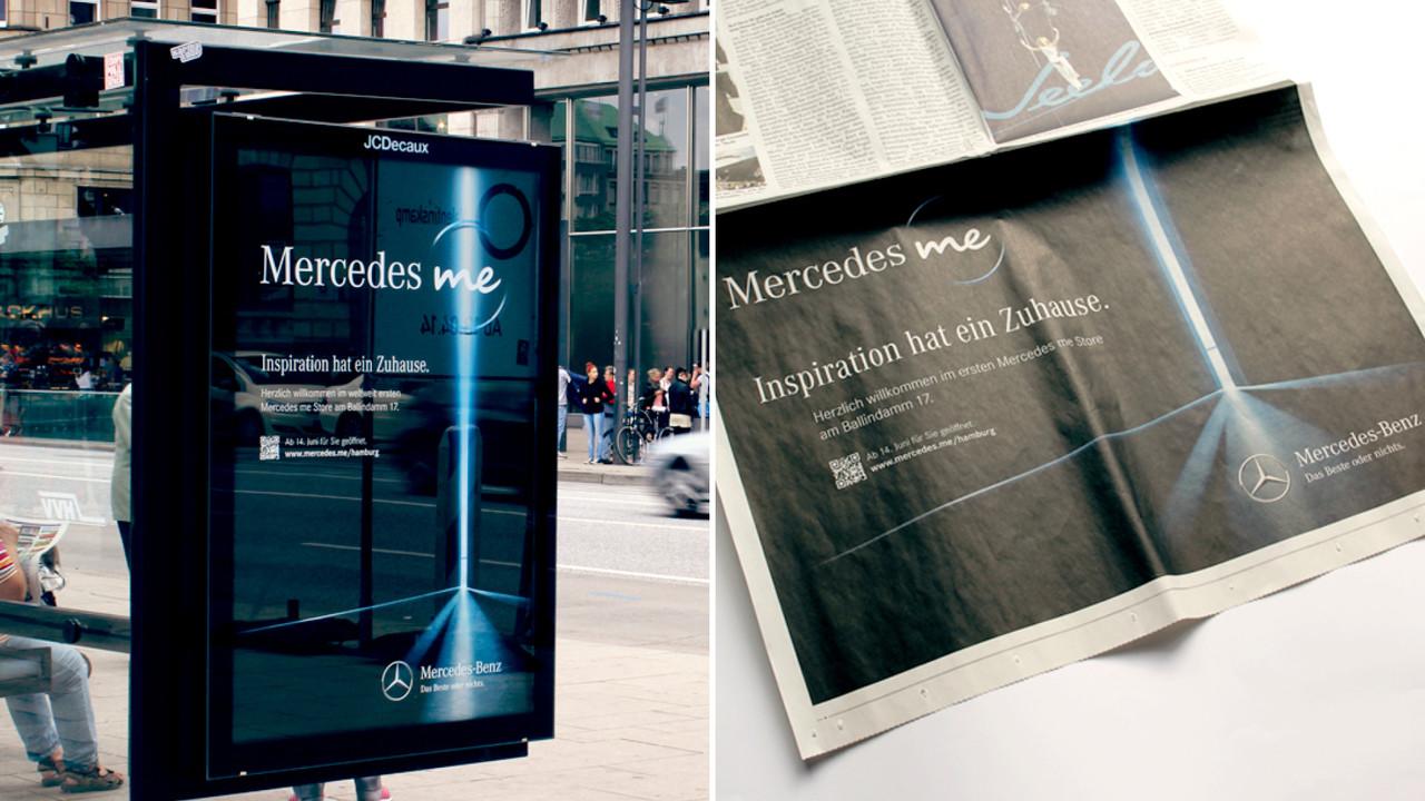 Mercedes me POS und Print Anzeige Inspiration hat ein Zuhause.