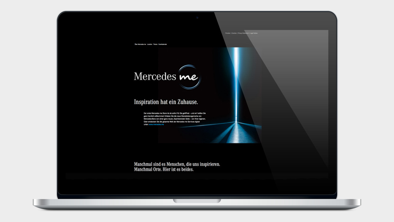 Mercedes me Website auf einem MacBook