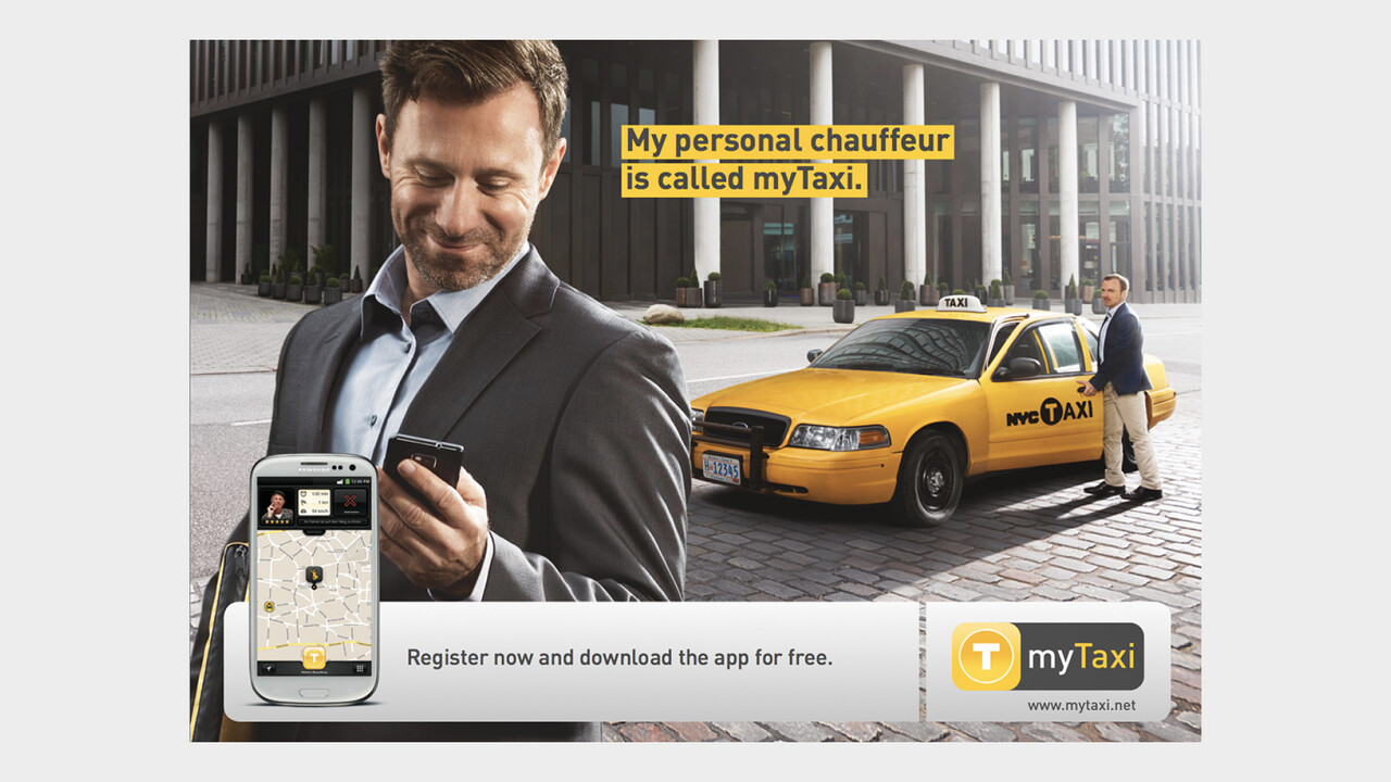 mytaxi Print Anzeige My personal chauffeur is called myTaxi.
