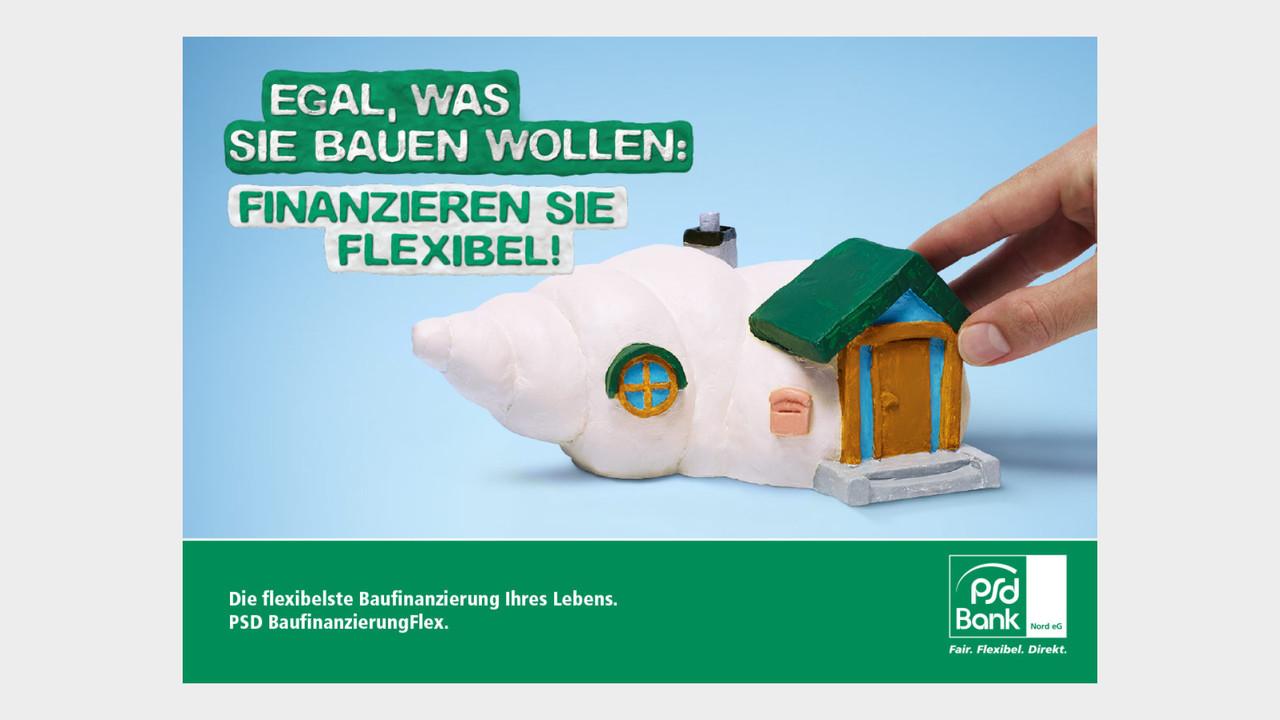 psd Bank Print Anzeige Schneckenhaus Egal, was sie bauen wollen: Finanzieren sie flexibel!