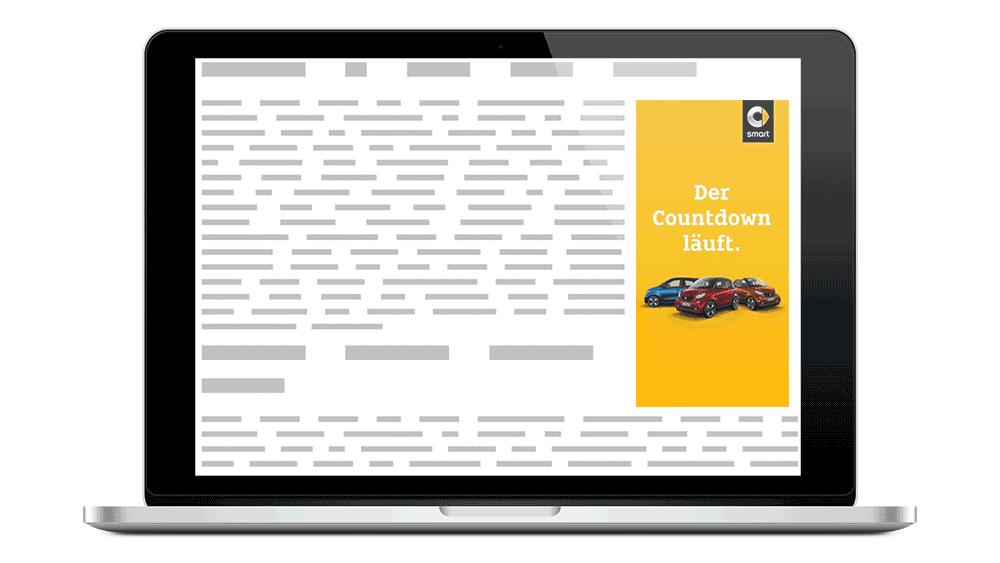 smart Display Banner Countdown letzte smart Benziner Modelle