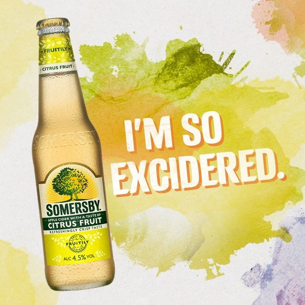 Somersby Social Posting Somersby Flasche Citrus Fruit I'm so excidered.