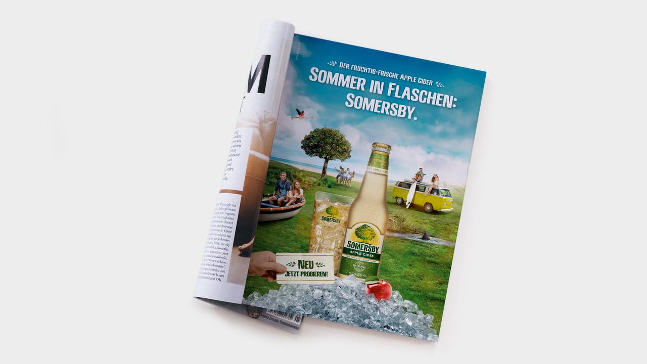 Somersby Print Anzeige in Zeitschrift Sommer in Flaschen: Somersby.