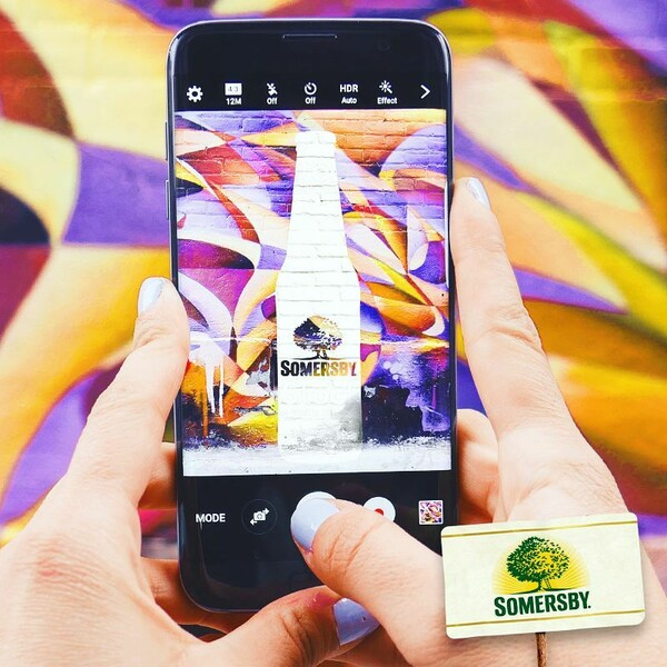 Somersby Social Posting Somersby Flasche als Graffiti