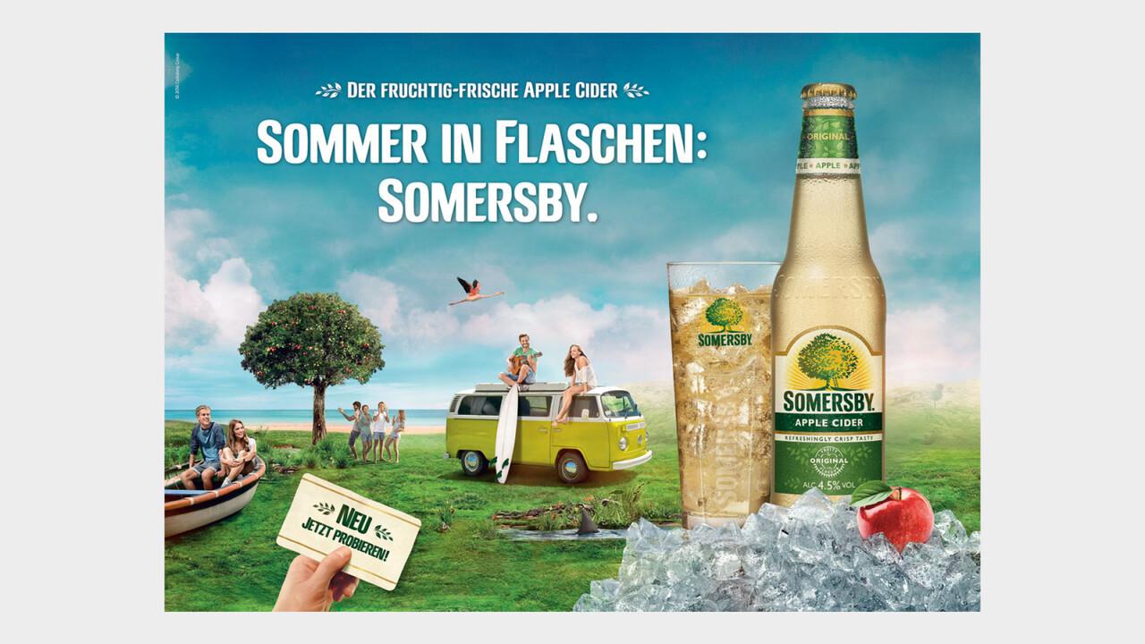 Somersby Print Anzeige Sommer in Flaschen: Somersby.