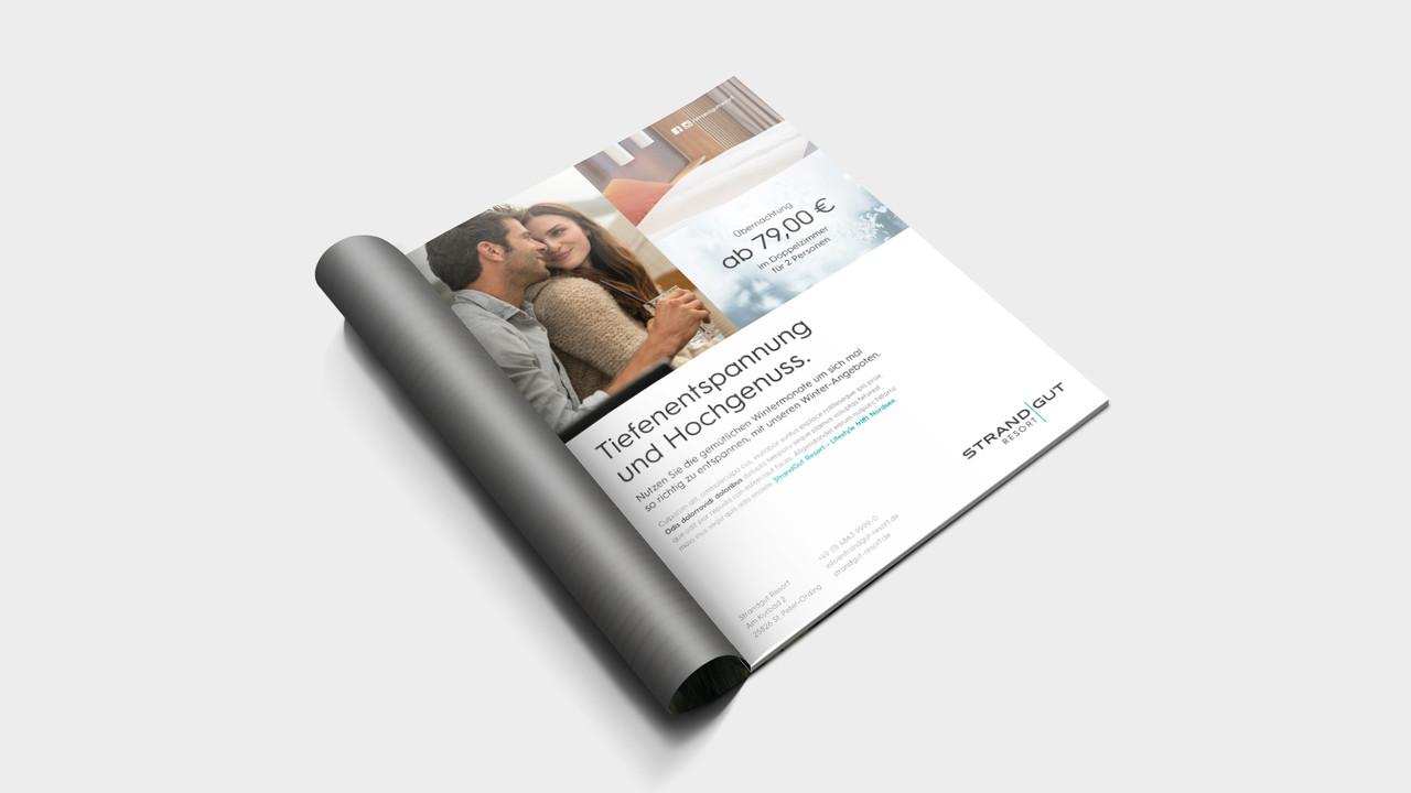 StrandGut Resorts Print Anzeige Tiefenentspannung und Hochgenuss.