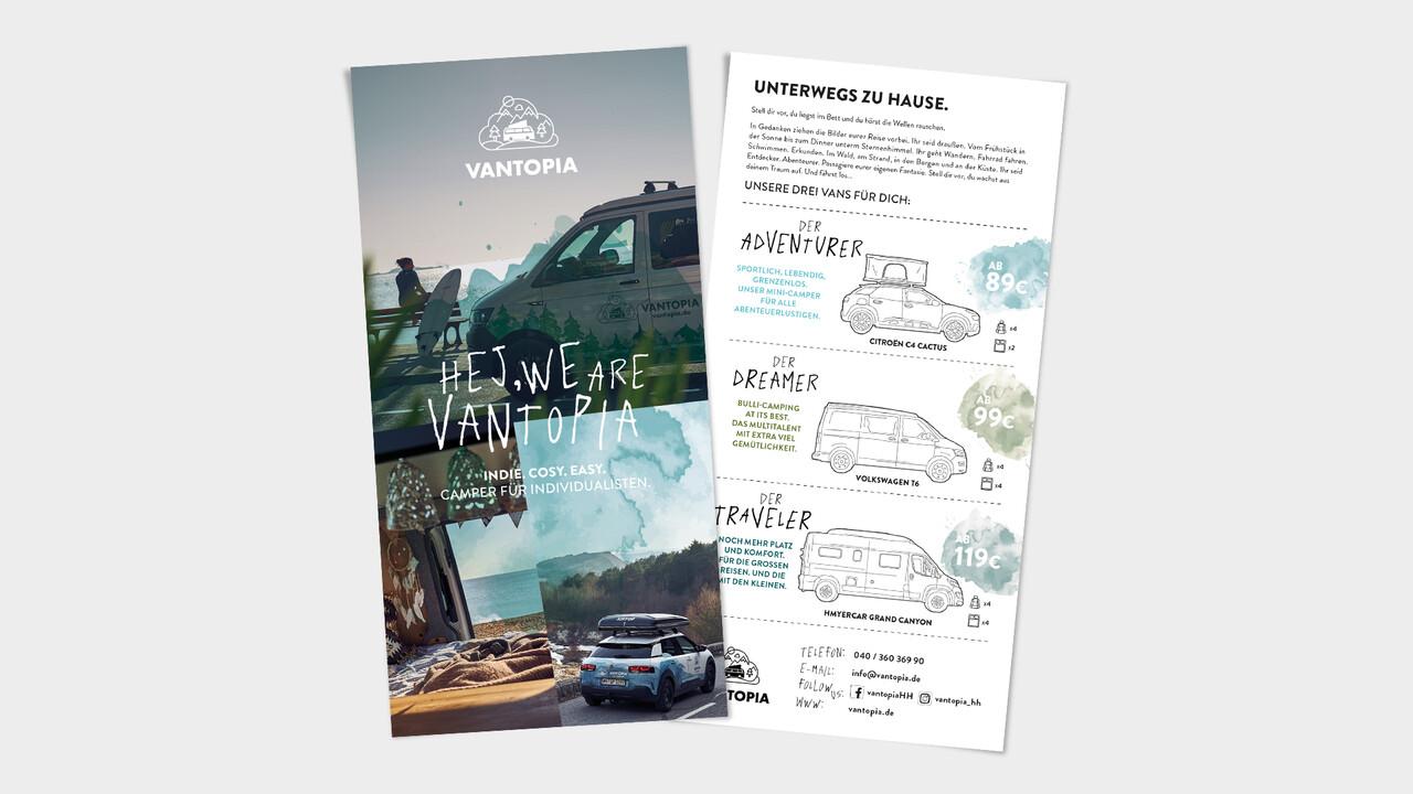 Vantopia Flyer mit Camper Modellen