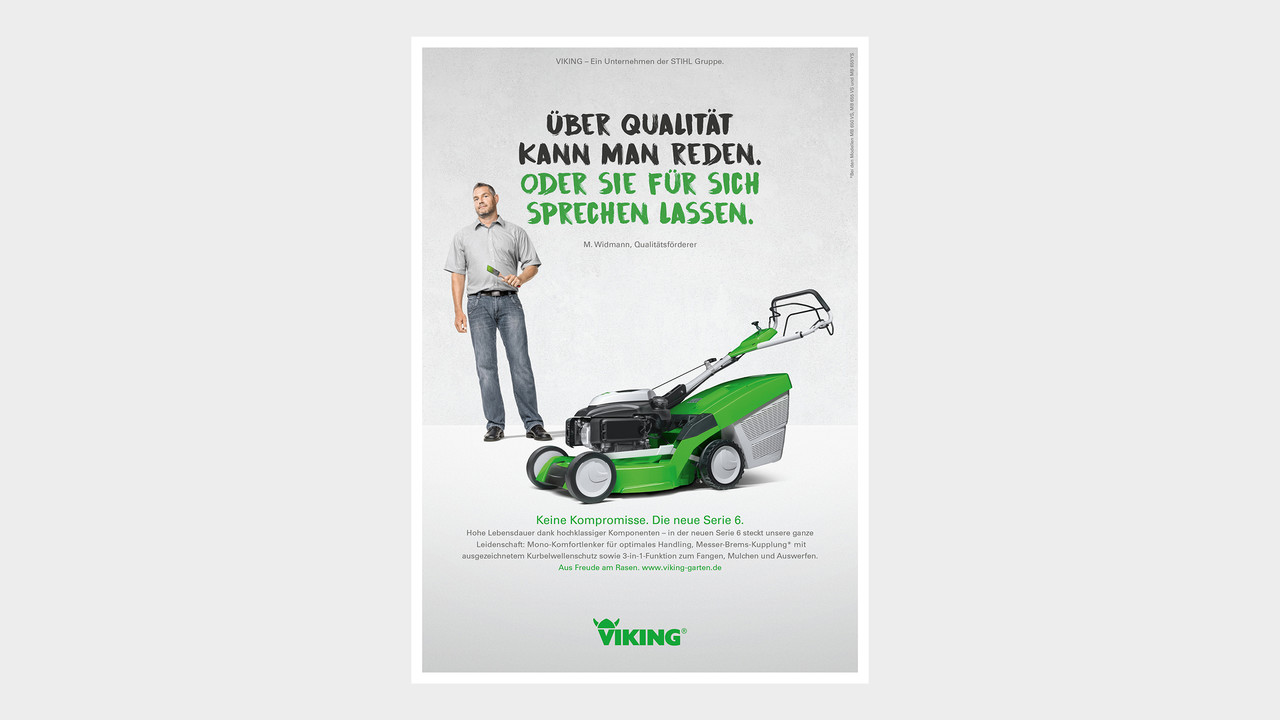 VIKING Print Anzeige Ueber Qualität kann man reden. Oder sie für sich sprechen lassen.