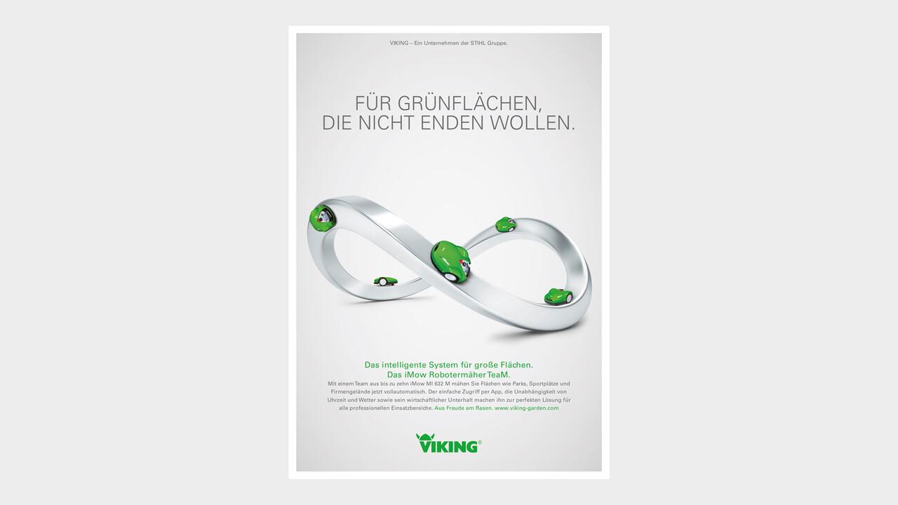 VIKING Print Anzeige Fuer Gruenflaechen die nicht enden wollen.