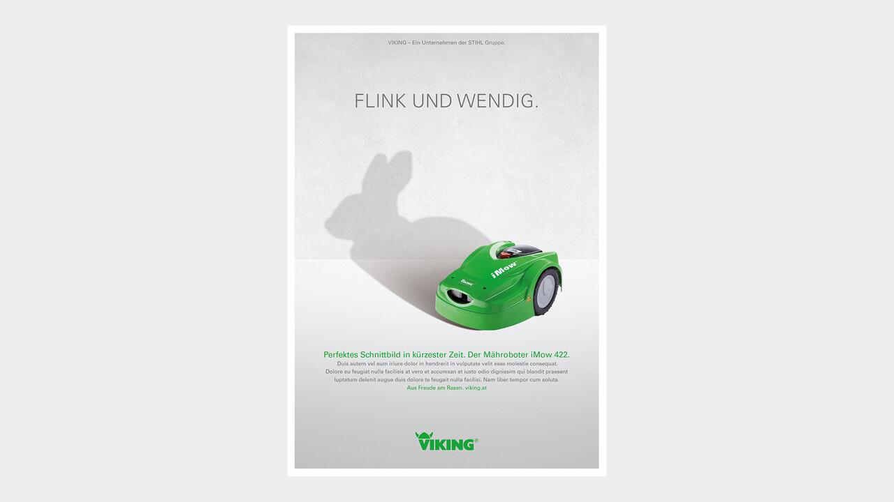 VIKING Print Anzeige Flink und wendig.