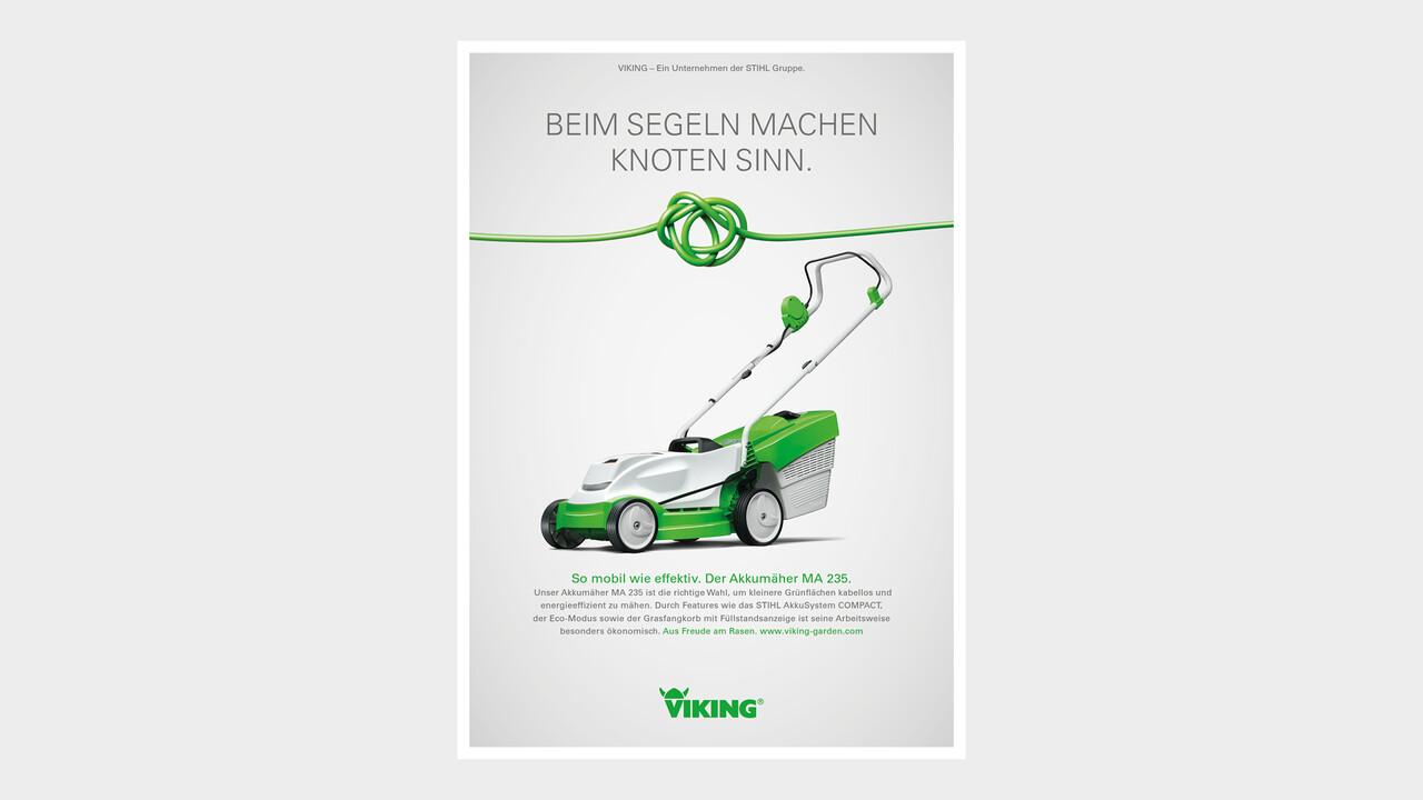 VIKING Print Anzeige Beim Segeln machen Knoten Sinn.