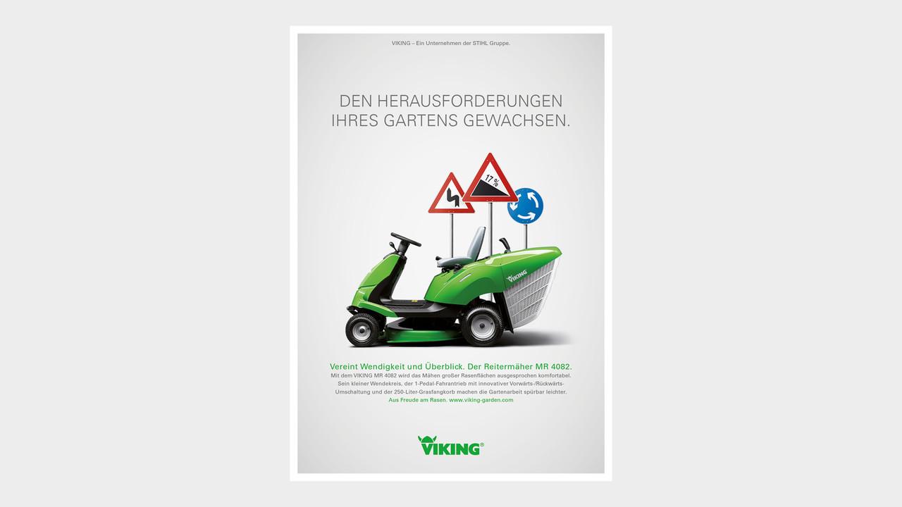 VIKING Print Anzeige Den Herausforderungen Ihres Garten gewachsen.